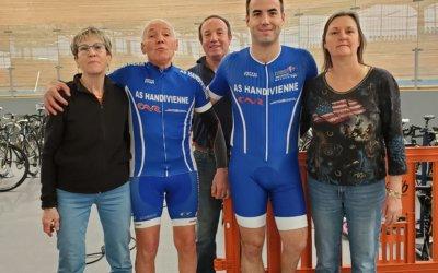 En piste pour les cyclistes de l'AS Handivienne